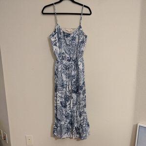 NWT lovestitch Blue Floral Midi dress